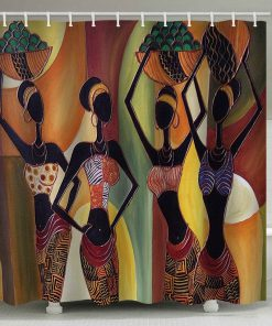 African Tribal Girls Print Shower Curtain (AT)