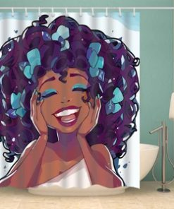 Afro Afrocentric Shower Curtains (AT)