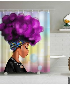 Afro Girl Shower Curtain (AT)
