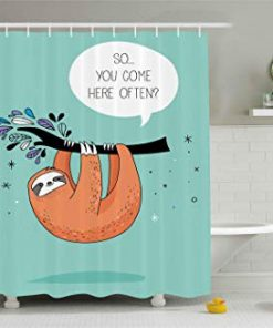 Ambesonne Animal Shower Curtain (AT)