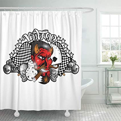 Emvency Decorative Shower Curtain (AT)