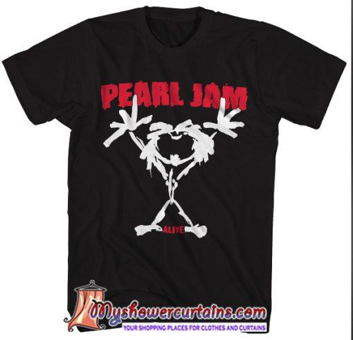 Alive Stickman Pearl Jam T-Shirt SN