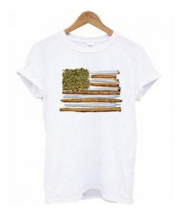 American Flag Weed t shirt RF02