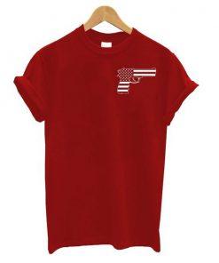 American Flag gun t shirt RF02
