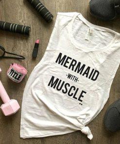 Mermaid with Muscle tank top RF02