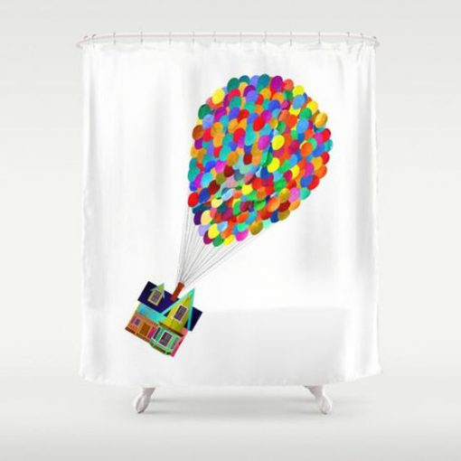 Up! Shower Curtain RF02