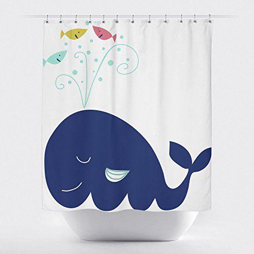 Whale Shower Curtain RF02