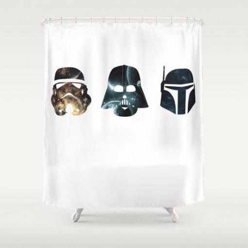 stormtrooper darth vader boba fett shower curtain RF02