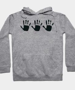 555 Handprint Hoodie AI