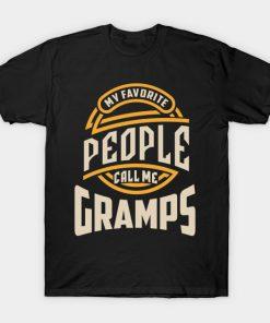 Mens My Favorite Gramps Grandpa Gift T-Shirt AI