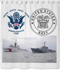 US Navy and US Coast Guard Shower Curtain AI